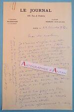 L.A.S 1932 Pierre DESCAVES à Jacques MORTANE - Le Journal aviation lettre LAS