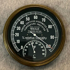 Vintage Abbeon Certified Hygrometer & Temperature Indicator W Germany HTAB169B