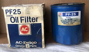 AC-Delco Duraguard PF25 Oil Filter Part #6438261 - Genuine GM Part NOS Made USA