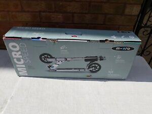 Micro Speed Adult Folding Alloy/Black Scooter- Pre Owned Excellent Cond Boxed