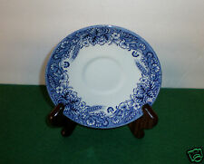 """Churchill Fine English Saucer """"Blue Wheat/Floral Design"""" Made in England"""