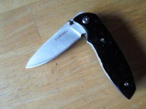 Browning plain edge liner lock pocket knife w/ belt clip model 0283