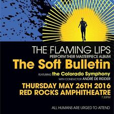 "FLAMING LIPS ""SOFT BULLETIN"" 2016 DENVER CONCERT TOUR POSTER - Alt / Psych Rock"
