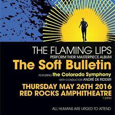 """FLAMING LIPS """"SOFT BULLETIN"""" 2016 DENVER CONCERT TOUR POSTER - Alt / Psych Rock"""