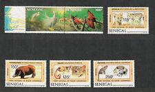 Senegal Sc#741-744, 746a M/NH/VF, Complete Set, Pr.+Label, Animals, Cv. $34.15