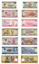 Vietnam set of 7 Banknotes 100 - 10,000 Dong 1988 - Present Ho Chi Minh UNC