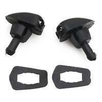 2pcs Nozzle Car Windshield Glass Clean Water Spray Injector Black Plastic Car
