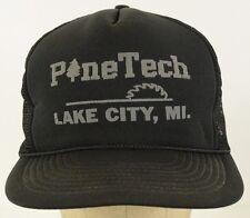 kiefer tech lake city, michigan schwarz mesh trucker cap adjustable snapback