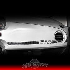 Adesivo FIAT 500 sticker effetto CARBON LOOK 3D plancia cruscotto 03