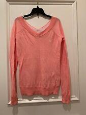 Girls Abercrombie Pink Off Shoulder Light Weight Knit Sweater XL