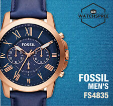Fossil Grant Chronograph Men's Leather Watch FS4835