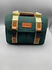 Vintage Canon Green and Tan Digital Camera Gadget Bag