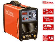 3in1 Schweißgerät TMC-205 Pro WIG TIG + Stick MMA + Plasmaschneider 230V 200Amp.