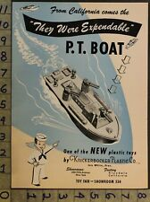1946 Knickerbocker Pt Boat Ship Nautical Military Sailor Weapon 2-pg Toy Ad Ts33