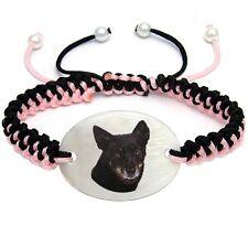 Lancashire Heeler Natural Mother Of Pearl Adjustable Knot Bracelet Chain Bs185