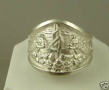 US Navy Licensed Submarine dolphin Guppy mens .925 sterling ring size 7.5