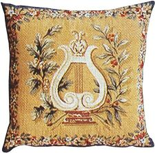 Set of 2 - Elegant Tapestry Cushions - Lyre