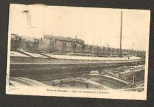 PONT-à-VENDIN (62) PENICHE au QUAI de CHARGEMENT en trés gros plan , en 1904