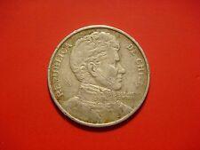 Chile 1 Peso, 1975 Coin. Bernardo O'Higgins