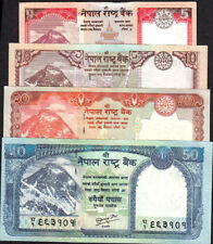 NEPAL 2010 Rs 5,10,20,50 EVEREST BANKNOTE P 60b-63b,sign 19, date NOT printd UNC