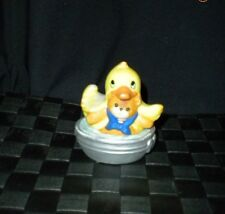 Enesco 1984 Porcelain Lucy & Me Bath Tub With Duck Teddy Bear Figurine
