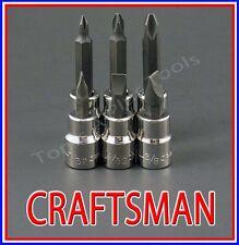 CRAFTSMAN HAND TOOLS 6pc 3/8 phillips / flat blade screwdriver socket bit set