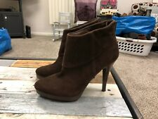 Steve Madden Brown Suede Ankle Boots Women's Size 8 M