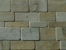 25 sq ins Welsh Green Coursed Miniature REAL STONE for Dolls Houses & Models