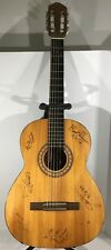 Vintage Multi Autographed By 6 Different Artists Acoustic Guitar