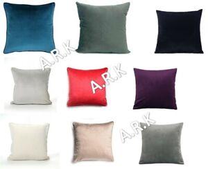 24 X 24 Inches Plain Velvet Cushion Covers Luxury Plush 60x60CM