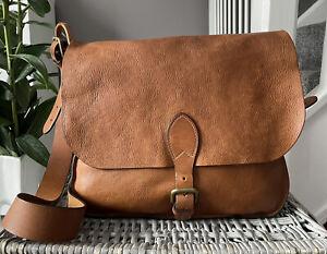 GENUINE MULBERRY Morgan Satchel shoulder bag cross body medium Oak Tan Leather