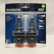 SYLVANIA 9007 SilverStar High Performance Halogen Headlight Bulb, 2 Bulbs