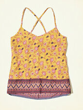 Hollister Easy Woven Cami, Vest tops - Size Small, Coral Pattern - RRP £14