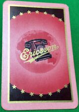 Playing Cards 1 Swap Card - Old Vintage Advertising ERICSSON Retro Telephone 2