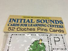 Initial Sounds - Cards for Learning Center 52 Cards- Letters Phonic Teaching