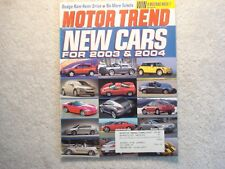 Motor Trend 2002 October Shelby Cobra 427 S/C + 289 FIA Dodge Ram Hemi VW Passat