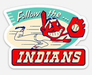 Chief Wahoo Magnet Vintage Cleveland Indians Custom Vinyl MLB Baseball Tribute