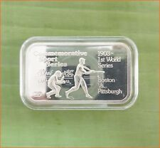 "RARE !! 1 oz .999 silver ""ENGELHARD SPORT: BASEBALL GAME"" 5,000 Mintage Bar H161"