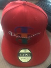 Champion Embroidery Hip Hop Hat Sport Baseball Cap Red Snapback