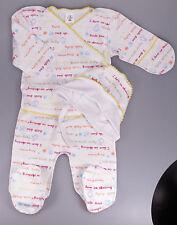 Ensemble naissance bébé mixte, brassière, pantalon, bonnet, taille 1 mois