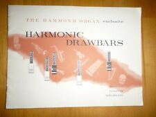 Hammond Organ Book:  Exclusive Harmonic Drawbars