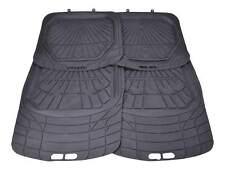 4x Gummi Fußmatten Gummifußmatten HOHER RAND Autoteppich VORN HINTEN Schwarz XL