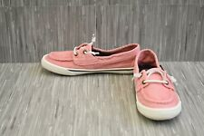 Sts81177 Washed Canvas Boat Shoes