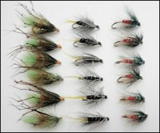 Wet Trout Flies, 18 Pack Kate Mclaren,Gorgeous George,Green Peter. Mixed Size