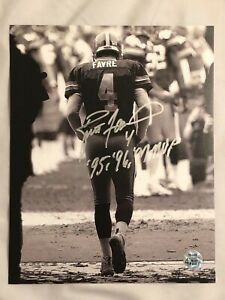 Brett Favre Green Bay Packers Signed MVP Inscribed 8X10 Photo Official Favre Coa
