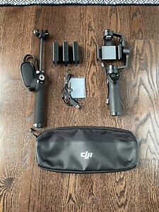 DJI Osmo Mobile Zenmuse M1 Gimbal 3 Original Battery's + Extension + Case