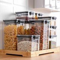 Food Storage Container 700-1800ML Plastic Transparent Kitchen Noodle Box Tank
