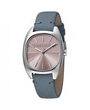 Esprit Damenuhr Uhr Infinity Edelstahl Leder Blau ES1L038L0045