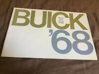 1968 Buick Full Line Original Color Brochure Catalog Prospekt