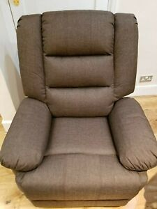 CLOTH RECLINER ARMCHAIR  IN BROWN